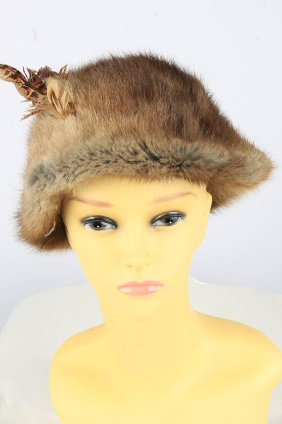 Russian Fur Cossack Hat Vintage Womens 1990s Brown -HAT1758-0