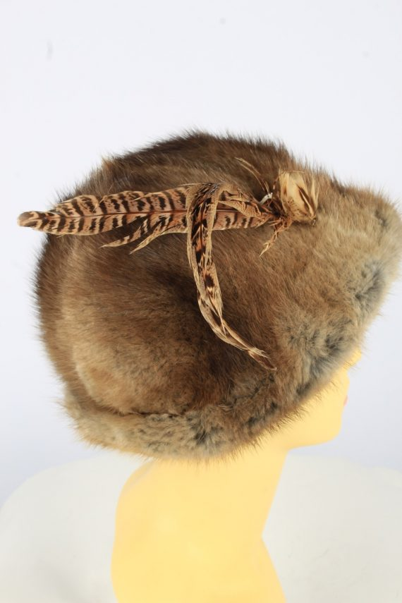 Russian Fur Cossack Hat Vintage Womens 1990s Brown -HAT1758-150988