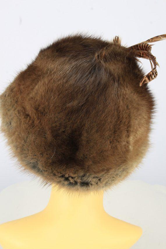 Russian Fur Cossack Hat Vintage Womens 1990s Brown -HAT1758-150989
