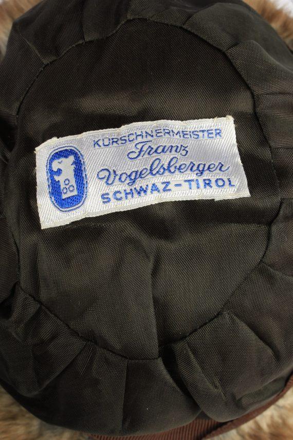 Russian Fur Cossack Hat Vintage Womens 1990s Brown -HAT1758-150990