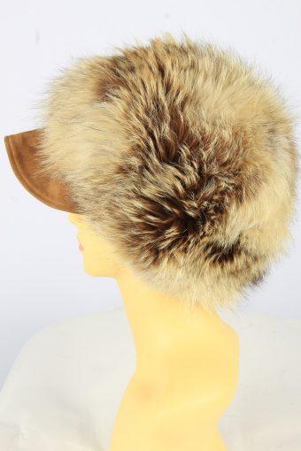 Russian Fur Cossack Hat Vintage Womens 1990s Brown -HAT1761-151000