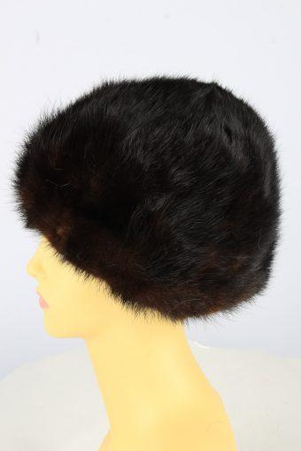Russian Fur Cossack Hat Vintage Womens 1990s Brown -HAT1764-151012
