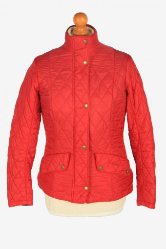 Womens Barbour Flyweight Cavalry Jacket Vintage Size S Red C2410