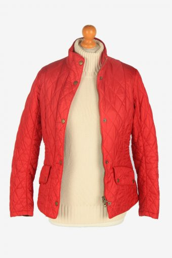 Womens Barbour Flyweight Cavalry Jacket Vintage Size S Red C2410-157418