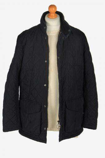 Mens Barbour Devon Quilt Jacket Vintage Size M Black C2425-157493