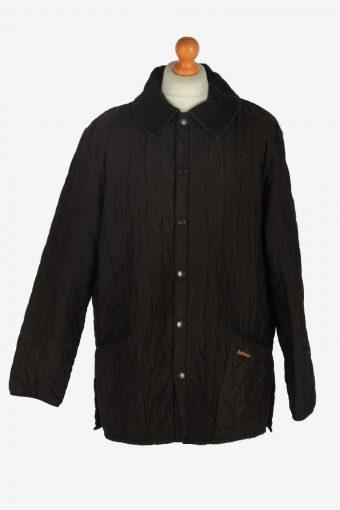 Mens Barbour Eskdale Quilt Jacket Vintage Size XL Dark Brown C2427