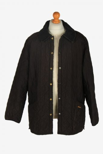 Mens Barbour Eskdale Quilt Jacket Vintage Size XL Dark Brown C2427-157503