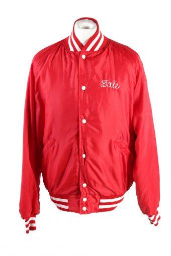 Baseball Jacket USA College Satin Bomber  Vintage Size XL Red C1754