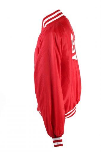 Baseball Jacket USA College Satin Bomber Vintage Size XL Red C1754-156351