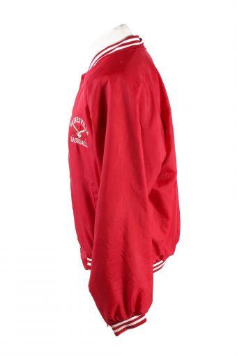 Baseball Jacket USA College Satin Bomber Vintage Size XL Red C1755-156355
