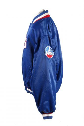 Baseball Jacket USA College Satin Bomber Vintage Size XXL Blue C1764-156391