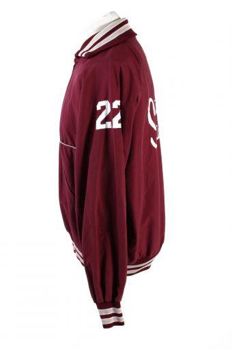 Baseball Jacket USA College Satin Bomber Vintage Size XL Bordeaux C1765-156395