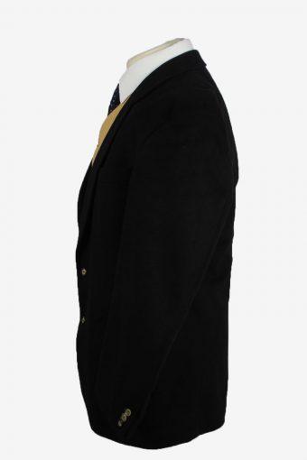 Blazer Jacket Mens Cashmere Vintage Size XL Black -HT2904-155460