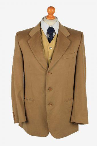Mens Blazer Jacket Cashmere 90s Camel XL