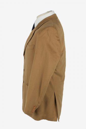 Blazer Jacket Mens Cashmere Vintage Size XL Camel -HT2907-155475