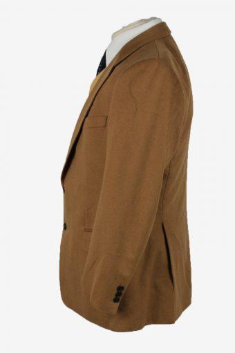 Blazer Jacket Mens Cashmere Vintage Size L Camel -HT2912-155500