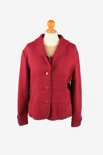 Womens Blazer Jacket Purple L