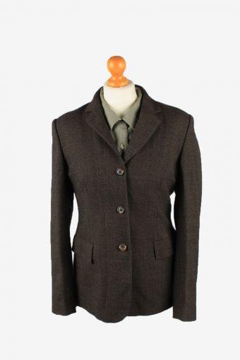 Womens Blazer Jacket Dark Brown L
