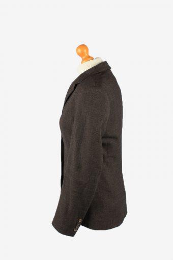 Womens Blazer Jacket Vintage Size 44 Dark Brown -HT2897-155144