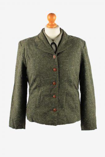 Womens Blazer Jacket Green M