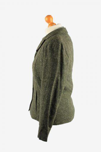 Womens Blazer Jacket Vintage Size UK 12/14 Green -HT2900-155159
