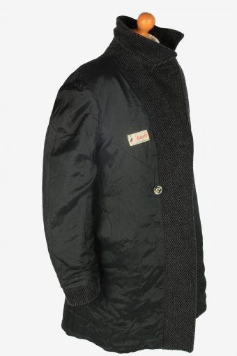 Mens Pea Coat Classic Vintage Size L Dark Grey C2344-157085