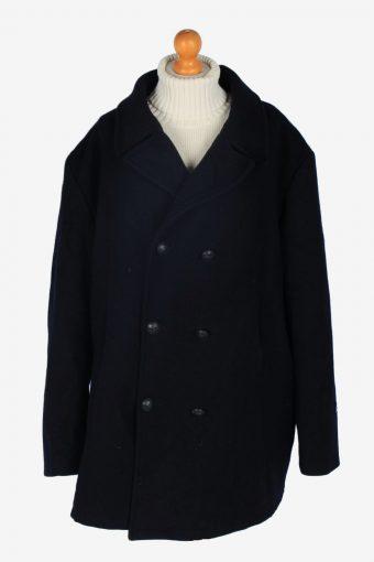 Mens Pea Coat Classic Vintage Size XXXL Navy C2346