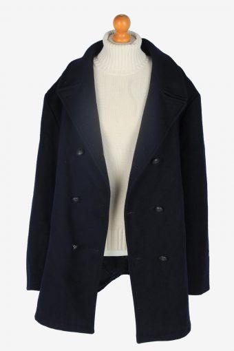 Mens Pea Coat Classic Vintage Size XXXL Navy C2346-157092