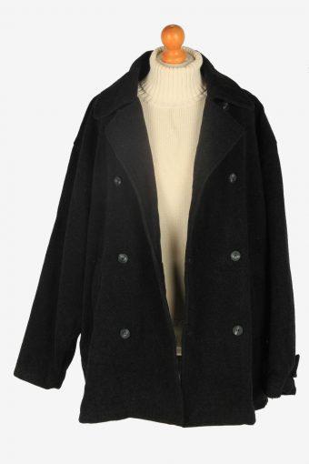 Mens Pea Coat Classic Vintage Size XXL Dark Grey C2348-157102