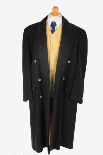 Mens Cashmere Coat Classic Vintage Size XXL Dark Grey C2354-157132