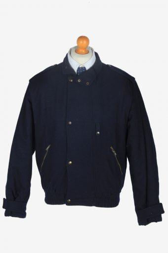 Mens Bomber  Jacket Classic Vintage Size M Navy C2357