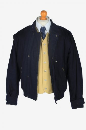Mens Bomber Jacket Classic Vintage Size M Navy C2357-157147