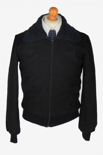 Mens Pilot  Jacket Classic Vintage Size S Black C2358