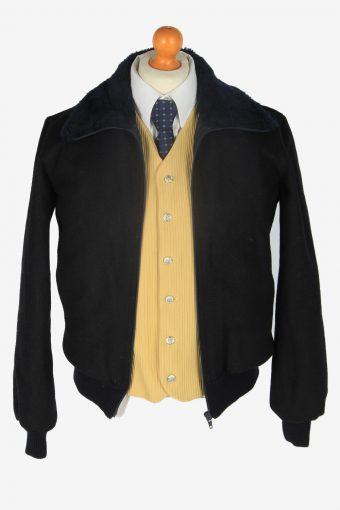 Mens Pilot Jacket Classic Vintage Size S Black C2358-157152