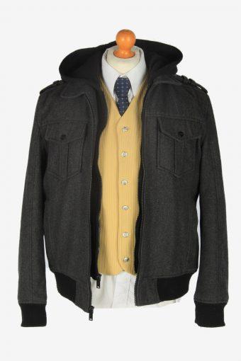 Guess Classic Hoodies Jacket Vintage Size L Dark Grey C2359-157157