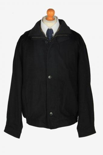 Pierra Cardin Wool  Classic Jacket Vintage Size L Black C2360