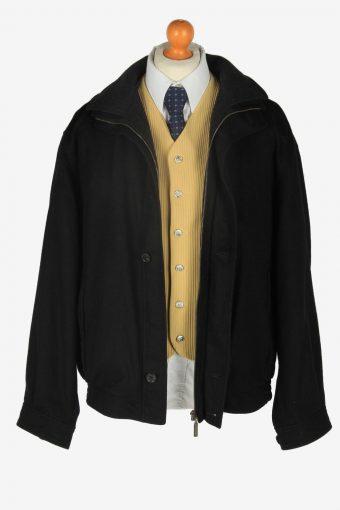 Pierra Cardin Wool Classic Jacket Vintage Size L Black C2360-157162