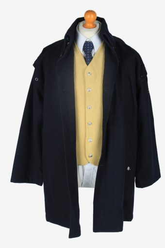 Mens Overcoat Yachting Classic Vintage Size XL Navy C2361-157167