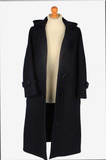 Women Duffle Coat Classic Vintage Size L Navy C2364-157182