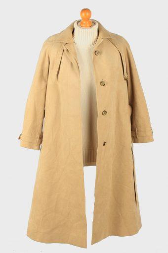 Womens Suede Overcoat Designer Vintage Size L Coffee C2336-157045