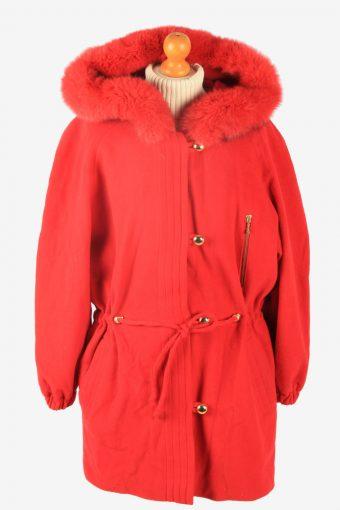 Womens Coat Hoodies Polar Vintage Size M Red C2337