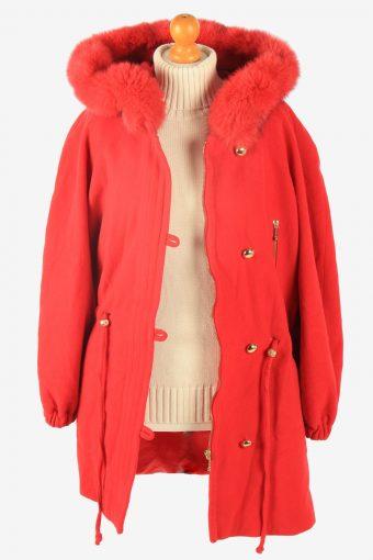 Womens Coat Hoodies Polar Vintage Size M Red C2337-157050