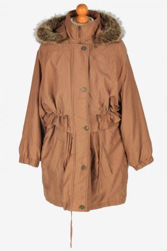 Womens Coat Hoodies Designer Vintage Size M Brown C2341