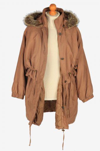 Womens Coat Hoodies Designer Vintage Size M Brown C2341-157070