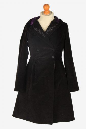 Womens Coat Halloween Designer Vintage Size S Black C2342