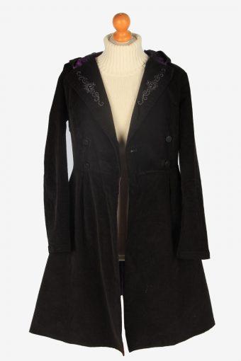 Womens Coat Halloween Designer Vintage Size S Black C2342-157075