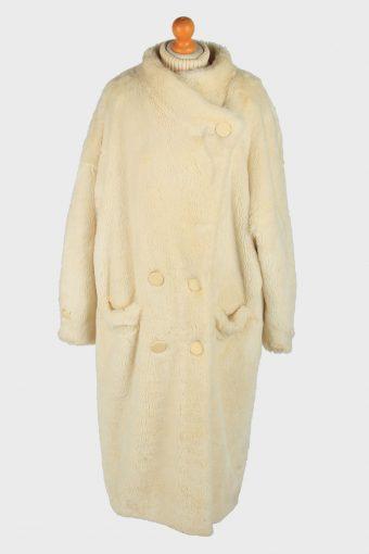 Womens Fluffy Luxury Lightweight Fur Long Coat Gorgeous Vintage Size XXL Beige C2622-158796