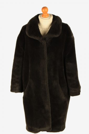 Womens Amazing Teddy Bear Icon Real Fur Coat Luxury Vintage Size XL Dark Chocolate C2629-158831