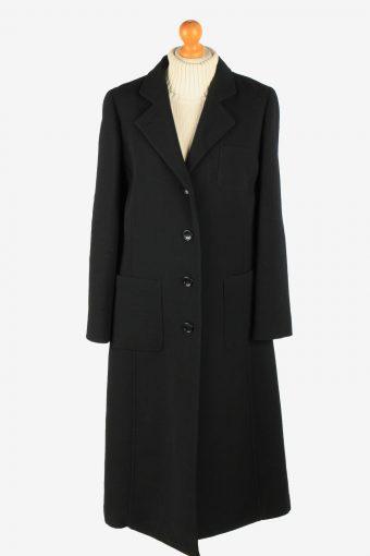 Womens Armani Parka Overcoat Luxury Vintage Size S Black C2638