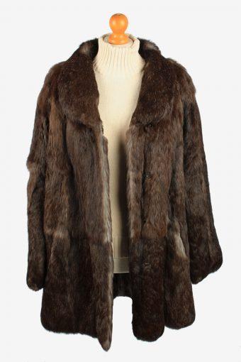 Mexx City Fur Coat Jacket Womens Vintage Size XL Dark Brown C2289-155535